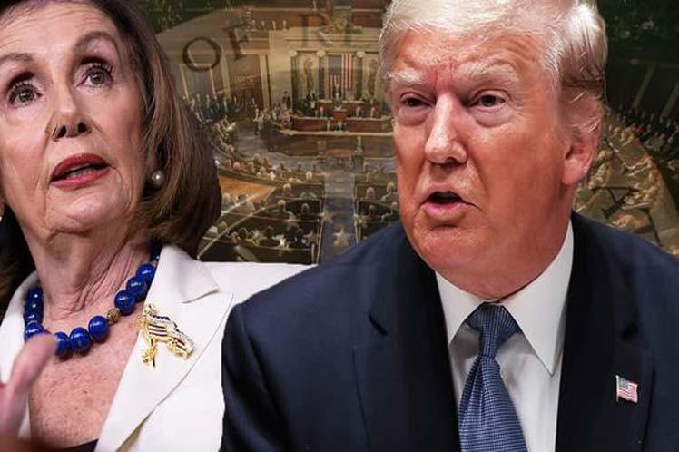 Los demócratas están valorando tres cargos fundamentales contra Trump: abuso de poder y soborno; obstrucción del Congreso; y obstrucción de la justicia. (Foto: PL)