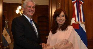 cuba, argentina, miguel díaz-canel, alberto fernandez, cuba-argentina, presidente de la republica de cuba, cristina fernandez