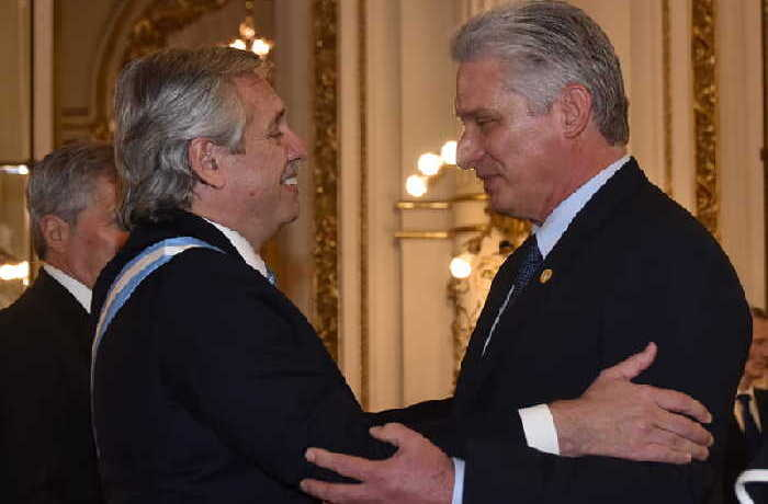 cuba, argentina, miguel díaz-canel, alberto fernandez, cuba-argentina, presidente de la republica de cuba