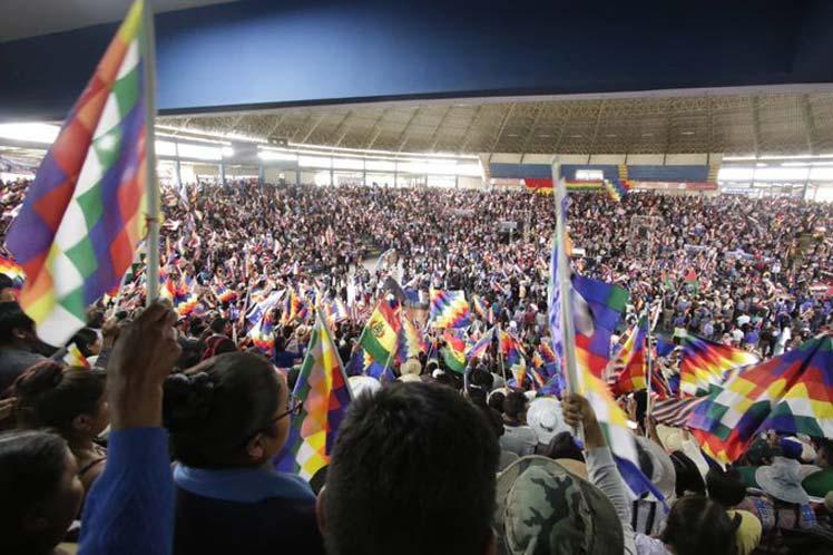 Evo Morales resultó proclamado como el jefe de campaña del Movimiento Al Socialismo para las elecciones de 2020. (Foto: PL)