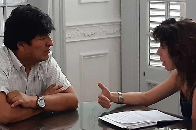 Evo abordó el tema de las elecciones en una entrevista concedida a la publicación rusa Sputnik. (Foto: PL)