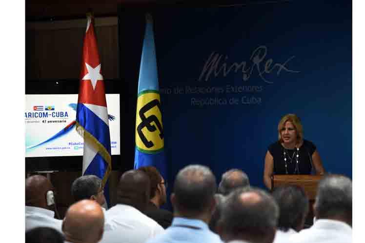 Cuba reitera su compromiso irrenunciable de mantenerse al lado de sus hermanos caribeños, recalcó la vicecanciller cubana. (Foto: PL)