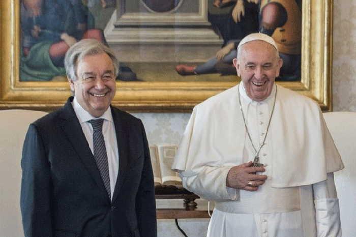 santa sede, el vaticano, papa francisco, antonio guterres, secretario general de la onu