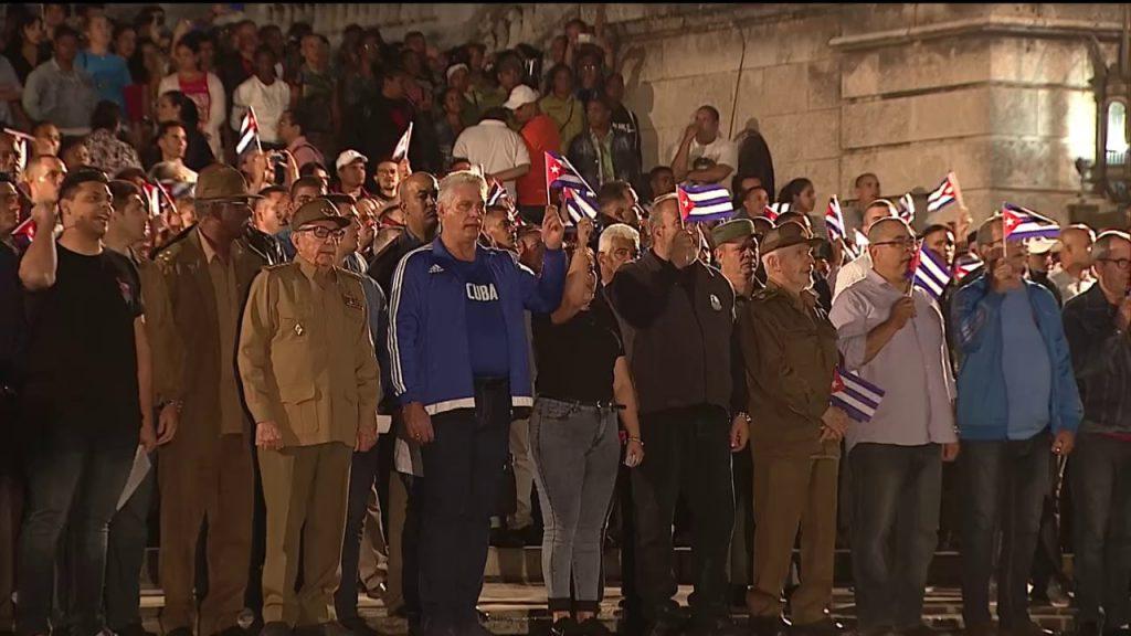 José Martí, Raúl Castro, Díaz-Canel, Marcha de las Antorchas