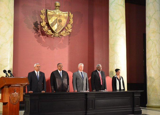 Díaz-Canel llamó a que el sistema de justicia en Cuba se caracterice por su ética, compromiso y honestidad. (Foto: @TSupremoCuba)