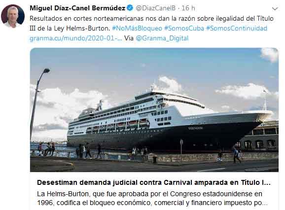 Díaz-Canel reafirmó la condena al bloqueo de Estados Unidos contra la mayor de Las Antillas.