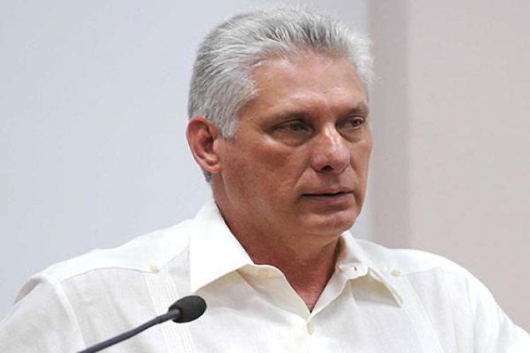 Díaz-Canel rechazó en su cuenta en Twitter las infundadas acusaciones del gobierno golpista boliviano. (Foto: PL)