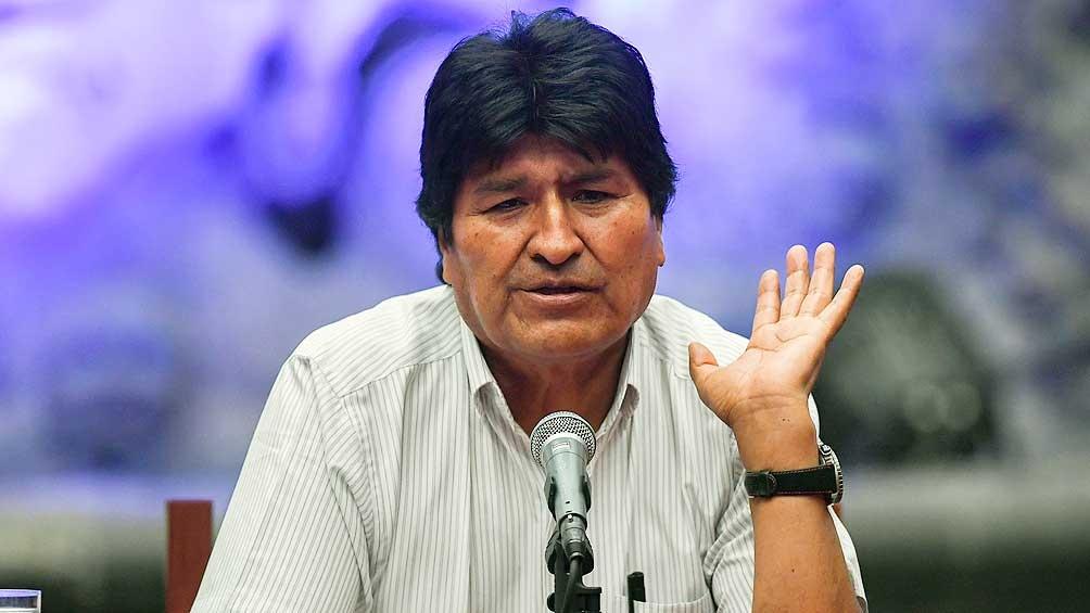 'Hemos recuperado la  Patria y ahora vamos a defenderla del fascismo y racismo', subrayó el ex presidente boliviano. (Foto: Télam)