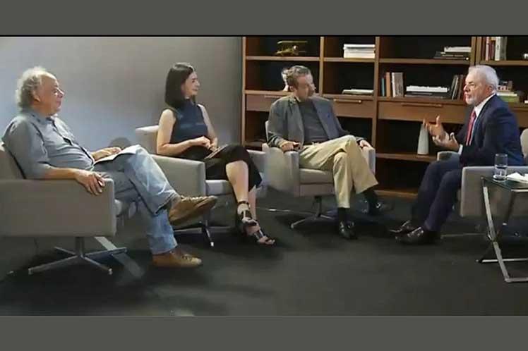 Lula concedió una extensa entrevista a la cadena TVT. (Foto: PL)