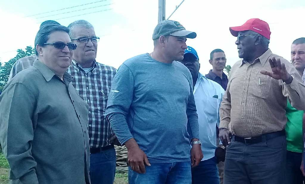 sancti spiritus, banao, salvador valdes mesa, vicepresidente de cuba, producciones agricolas