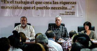 Trabajo, Seguridad Social, Díaz-Canel