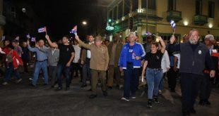 cuba, jose marti, marcha de las antorchas, raul castro, miguel diaz-canel, presidente de la republica de cuba, primer ministro, manuel marrero