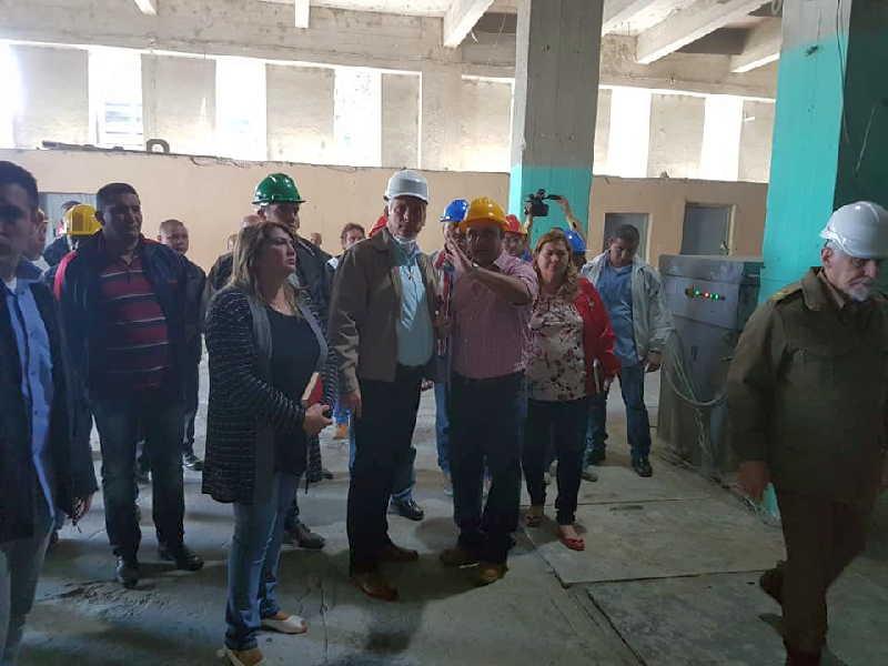 sancti spiritus, presidente de cuba en sancti spiritus, miguel diaz-canel, fabrica de cemento siguaney
