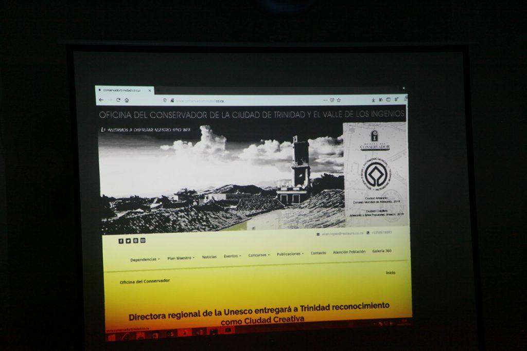La página web de la Oficina del Conservador de la Ciudad fue presentada como parte de las actividades por el 506 aniversario de la Villa de Trinidad.