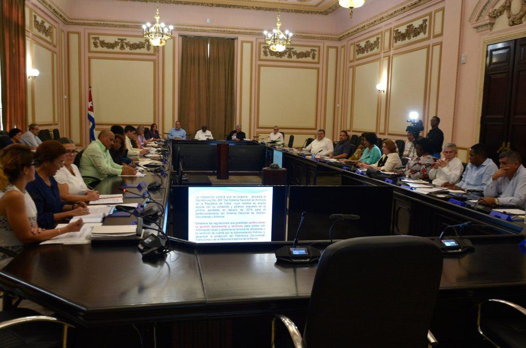 El Consejo de Estado estuvo presidido por su titular Esteban Lazo y contó con la asistencia del presidente  Díaz-Canel y el primer ministro Manuel Marrero. (Foto: @AsambleaCuba)