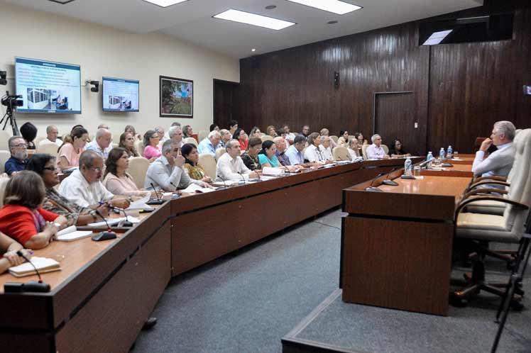 El presidente Miguel Díaz-Canel encabezó varios encuentros que analizaron aspectos de la realidad nacional. (Foto: Radio Rebelde)