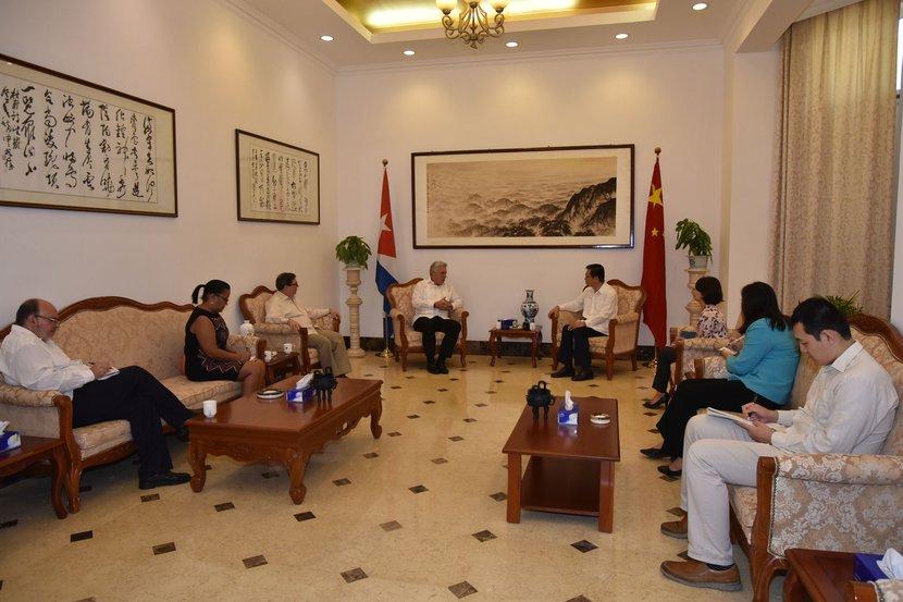 El presidente cubano manifestó el apoyo y la solidaridad de la isla con China. (Foto: Estudios Revolución)