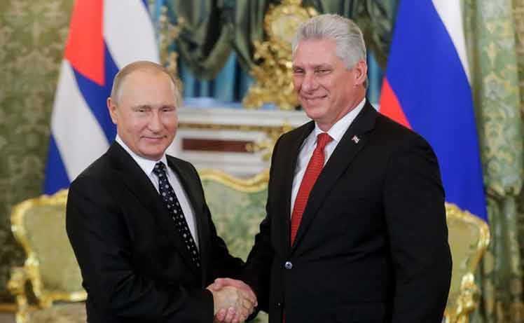 cuba, rusia, vladimir putin, miguel diaz-canel, presidente de la republica de cuba