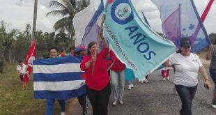 MUJERES, bandera 60 aniversario, Sancti Spíritus, FMC