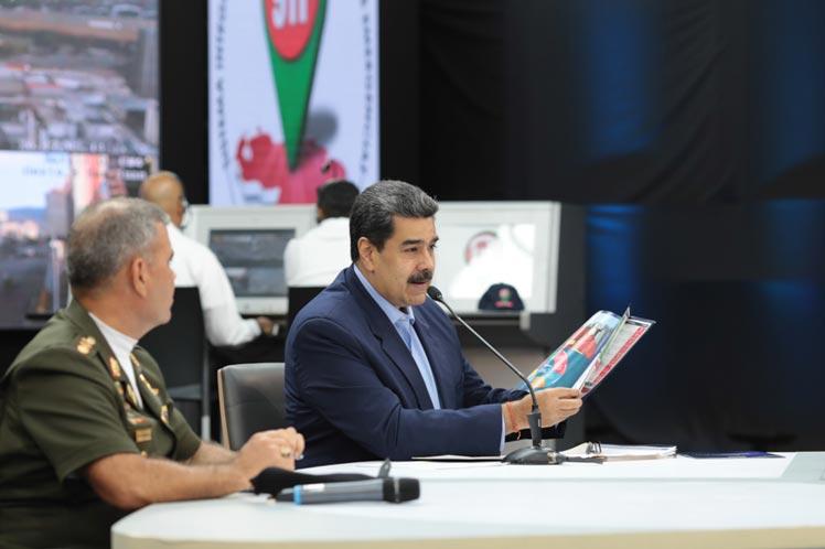 Maduro destacó la necesidad en el cumplimiento de la misión de garantizar la estabilidad y seguridad de Venezuela. (Foto: PL)