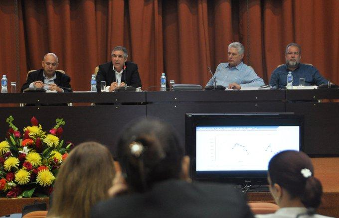 cuba, biocubafarma, miguel diaz-canel, presidente de la republica de cuba, manuel marrero, primer ministro de cuba