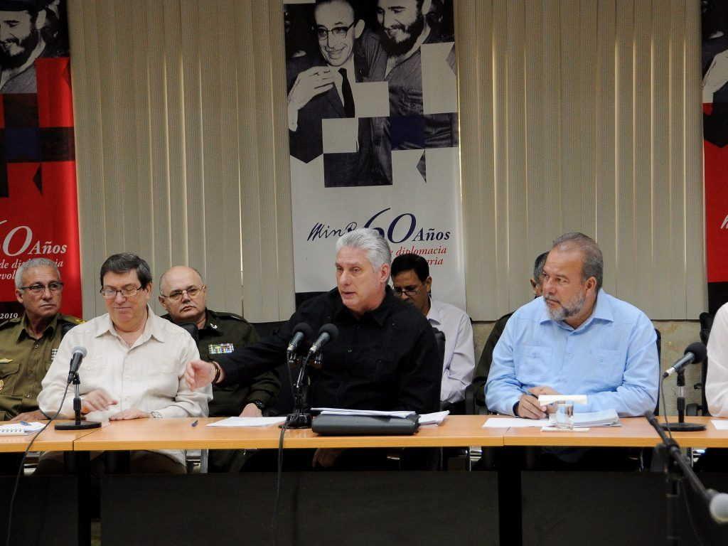 cuba, minrex, relaciones exteriores, miguel diaz-canel, presidente de la republica de cuba
