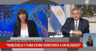Coronavirus, bloqueo, Argentina, Cuba