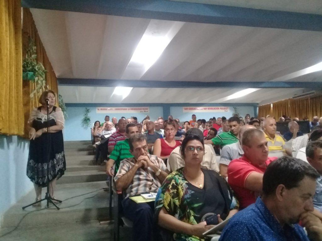 Los delegados recalcaron la importancia de lograr calidad en la formación de pregrado y de perfeccionar la labor político ideológica.
