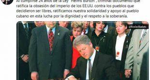 Cuba, Venezuela, Estados Unidos, bloqueo, Ley Helms-Burton