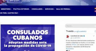 Cuba, Minrex, consulados, coronavirus