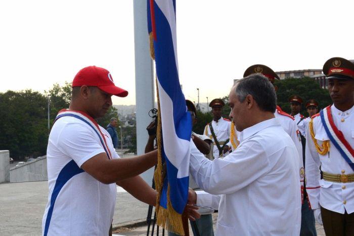 abanderamiento equipo cubano a preolímpico de arizona
