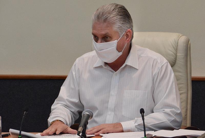 Díaz-Canel: la gestión del Gobierno y la población han sido clave contra la Covid-19