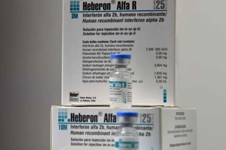 El Interferón Alfa 2B producido en Cuba se emplea en el tratamiento contra la COVID-19. (Foto: PL)