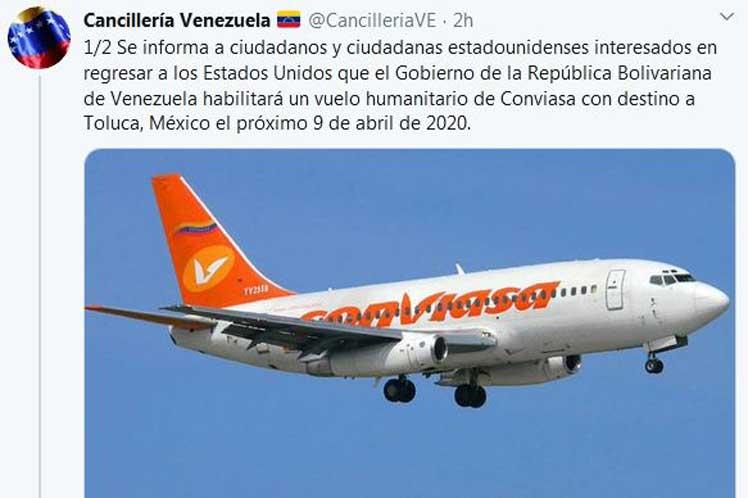 Debido a las medidas coercitivas impuestas por el gobierno de EE.UU., el vuelo tendrá como destino la ciudad mexicana de Toluca. (Foto: PL)