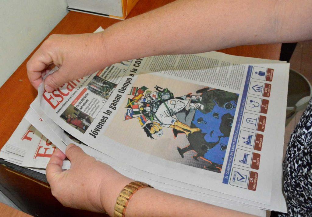 sancti spiritus correos, distibucion de la prensa, periodicos, periodico escambray