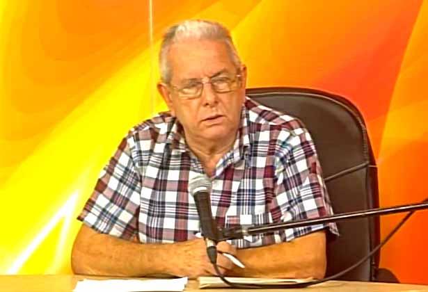 Octavio del Rosario Arguelles, director de la Industria Alimentaria. (Foto tomada de Centrovisión)