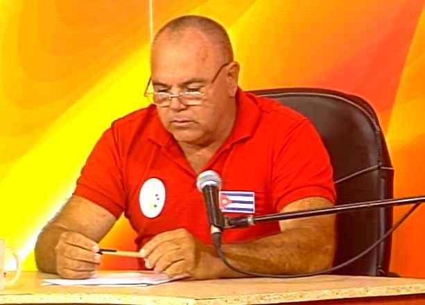 Alberto Roberto Reina Montiel, subdelegado de la Agricultura en Sancti Spíritus. (Foto: Tomada de Centrovisión)