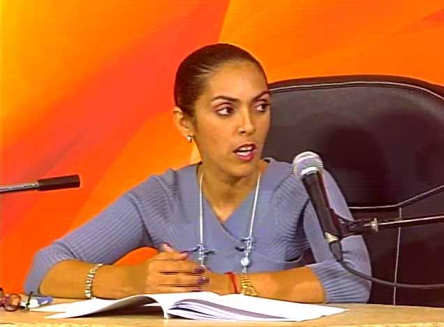 Marisely Quintero Rodríguez, directora provincial de Justicia. (Foto: Tomada de Centrovisión)