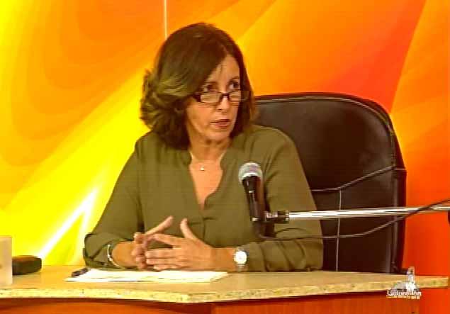 Doctora Nayma Trujillo Barreto, rectora de la UNISS. (Foto: Tomada de Centrovisión)