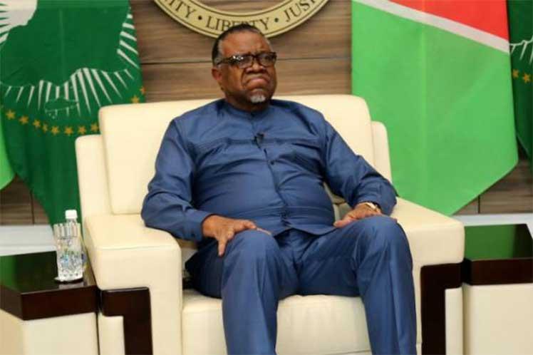Geingob recordó que Namibia y Cuba mantienen fuertes nexos desde antes de la independencia del país africano. (Foto: PL)