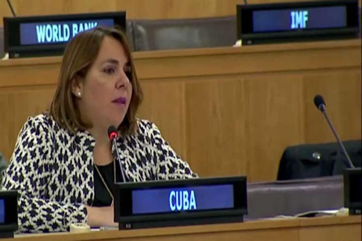 La representante cubana advirtió que los efectos de la pandemia pueden exacerbar más las desigualdades y vulnerabilidades. (Foto: PL)