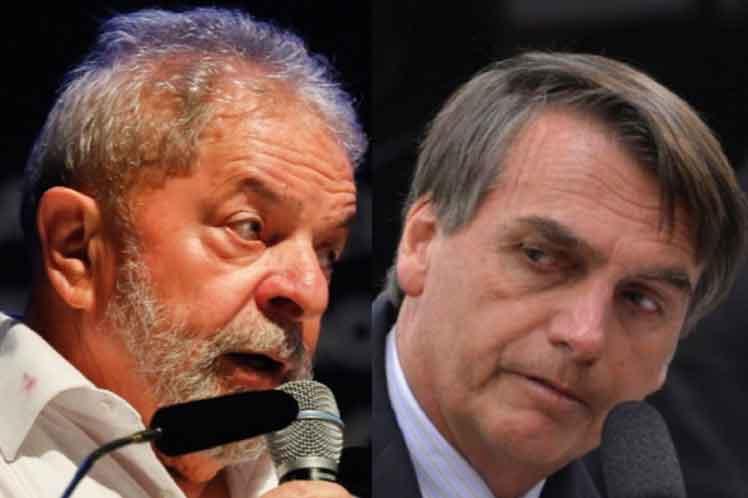Lula criticó al gobierno de Bolsonaro por la explosión de muertes e infectados de Covid-19. (Foto: PL)