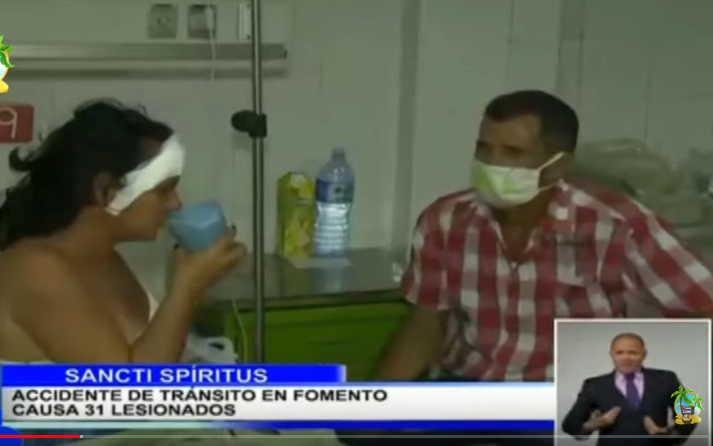 sancti spiritus, accidente de transito, fomento, hospital provincial camilo cienfuegos