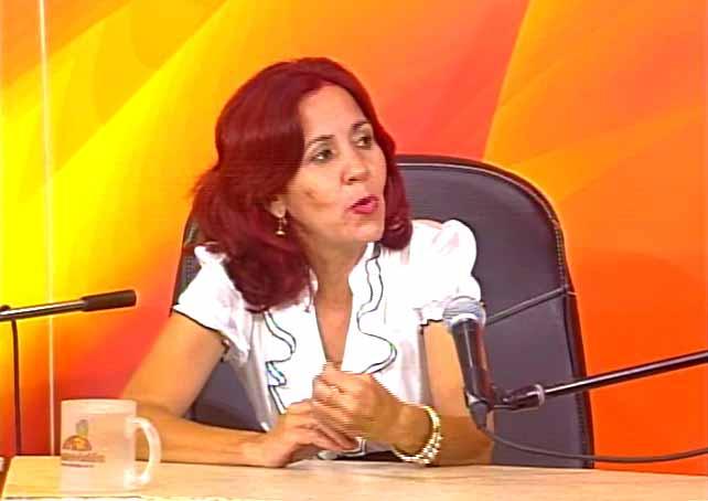 Chirley Ricardo Castrejes, coordinadora del Proyecto Al Derecho. (Foto: Tomada de Centrovisión)