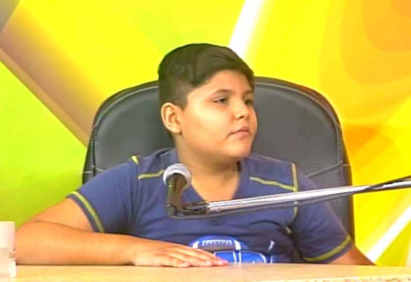 Rolando Yunier González de la Paz, alumno de quinto grado en la Escuela Primaria Arselio Suárez.  (Foto: Tomada de Centrovisión)
