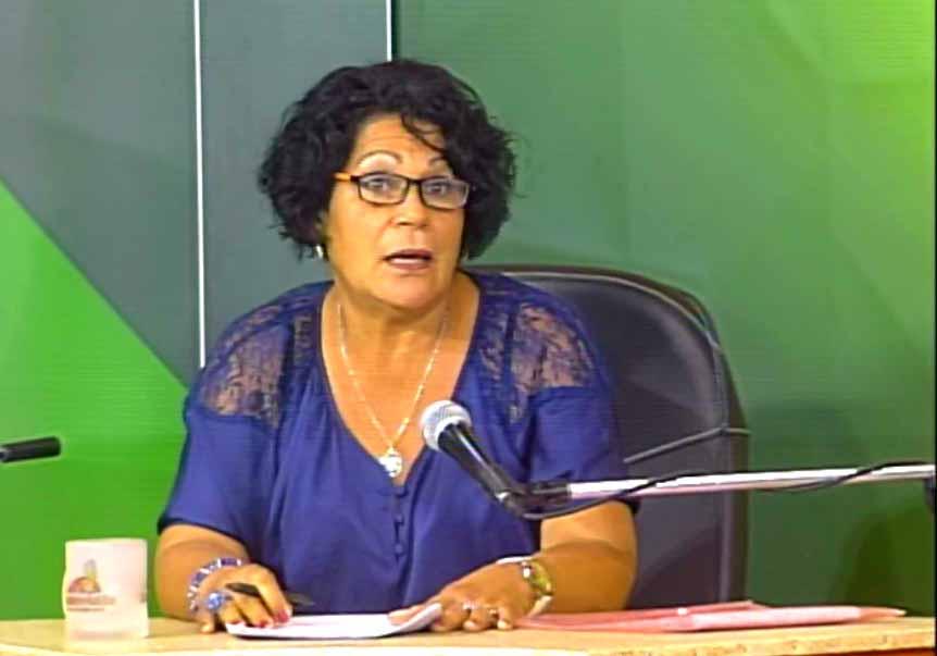 Delvia Castellanos, del Gabinete Psicopedagógico de la Universidad José Martí.  (Foto: Tomada de Centrovisión)