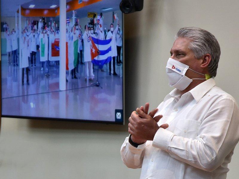 Coronavirus, covid-19, medicos cubanos, contingente henry reeve,Salud, Cuba, Díaz-Canel, lombardia, italia