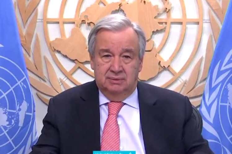 Ahora más que nunca, los líderes deben ser humildes y reconocer la importancia vital de la unidad y la solidaridad, exhortó el titular de la ONU. (Foto: PL)
