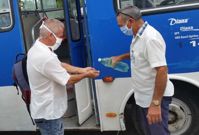 sancti spiritus, yaguajay, covid-19, coronavirus, salud publica, transporte