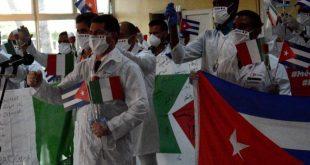 cuba, italia, lombardia, medicos cubanos, contingente henry reeve, covid-19, pandemia mundial, coronavirus, salud publica